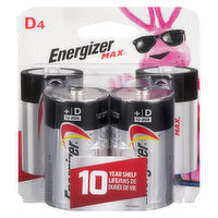 Energizer - Max Batteries D, 4 Each
