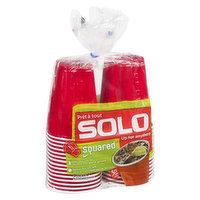 Solo Solo - Beer Cups 18oz (Red/Blue), 30 Each