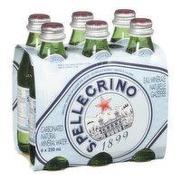 San Pellegrino San Pellegrino - Carbonated Natural Mineral Water, 6 Each