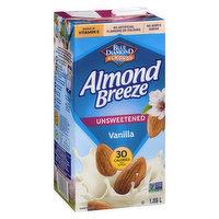 Blue Diamond - Almond Breeze - Unsweetened Vanilla, 1.89 Litre