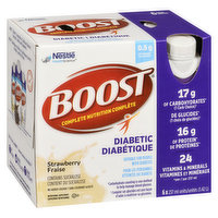 Boost - Diabetic Nutritional Supplement - Strawberry, 6 Each