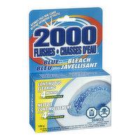 2000 Flushes - Blue Plus Bleach Toilet Tank Cleaner, 100 Gram