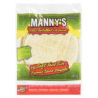Manny's Manny's - Flour Tortillas - Soft Taco Size, 10 Each