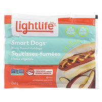 These hot dogs offer up all the juicy flavour you love. Fire up the grill, top with your favourite condiments. 7g of protein per serving. A good source of iron. Vegan. Keep refrigerated. 8pack=340g
