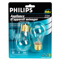 Philips - PHILPS Incandescent 40W A15 Clear 2Pk