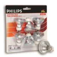 Philips - 50W Halogen Flood Bulb - Bright White, 6 Each