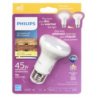 Warm glow dimmable light. Lasts 22+ years.