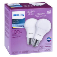 Philips - LED 100W A19 Daylight Non Dim, 2 Each