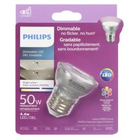 Philips Philips - 50W LED Dimmable Bulb - Bright White Light, 1 Each