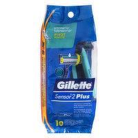 Gillette - Sensor2 Plus Pivot Soft Ultra Grip, 10 Each