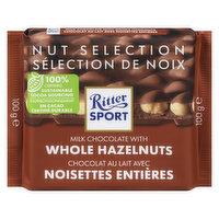 Ritter Sport Ritter Sport - Chocolate Bar -Milk Chocolate with Whole Hazelnuts, 100 Gram