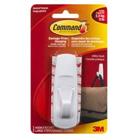 Damage free hanging, includes 2 large adhesive strips. Holds strongly & removes cleanly. Holds up to 5lb's.