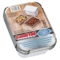 Handi Foil - Freezer Container with Board Lids, 7 Each