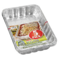 Enhance your cooking experience with these giant foil lasagna pans. Also makes for a perfect practical gift for the cook in your life or for that house warming party that is just around the corner.