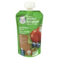 Gerber Gerber - Organic Puree - Apple Blueberry & Spinach, 128 Millilitre