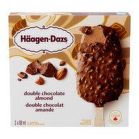 Haagen Dazs - Double Chocolate Almond Ice Cream Bars, 3 Each