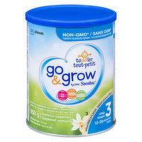 For toddlers 12 to 36 months. Helps support growth and development and complement your toddlers nutrition. Provides key nutrients such as iron, calcium, Vitamin E, and DHA. 6x235ml. Non-GMO.
