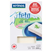 Rich & creamy feta, made with a combination of cow & goats milk. Great in salads or sprinkled on pasta or rice. 22% M.F. & 55% Moisture.