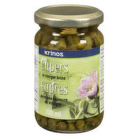 Krinos Greek Capers are without any preservatives or artificial ingredients. Packed in Vinegar, marinated to preserve their freshness and zestful taste. The perfect addition to salads or main courses.