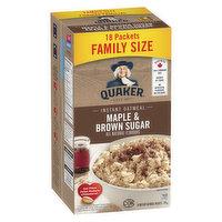 Quaker - Instant Oatmeal - Maple & Brown Sugar, 18 Each