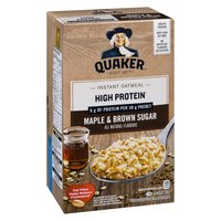 Quaker - High Protein Instant Oatmeal - Maple & Brown Sugar