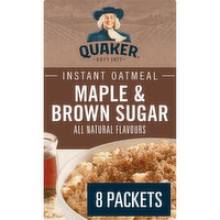 The wholesome goodness of 100% whole grain oats, combined with the rich flavors of maple & brown sugar  in just 90 seconds! Great source of iron & fiber. All natural flavors. 8 packets.
