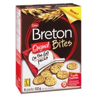 Now available on the go, enjoy the delicious and wholesome taste of Breton, in its original and simplest form. Made with 9 grams of whole grains and no artificial colours or flavours.