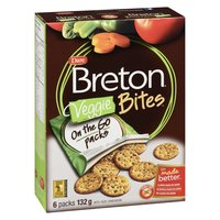 Unique and flavourful, baked with a special blend of 9 real vegetables. It's perfectly sized to make it the ideal snack, with 8g whole grains per serving. Contains 6X132g on the go packs. Peanut Free.