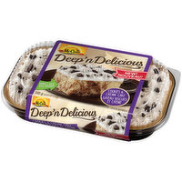 The chocolate vanilla swirl & smooth frosting are topped with a delicious cookie crunch! Simply thaw, serve & enjoy!