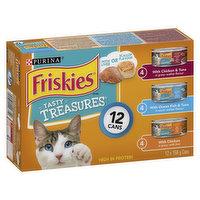 Friskies - Cat Food - Tasty Treasures with Cheese, 12 Each