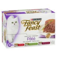 Fancy Feast - Wet Cat Food, Deli Supper Pate Variety Pack, 12 Each