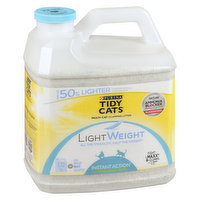 This clumping & easy cleanup cat liter prevents ammonia odor for 2 weeks, guaranteed. Locks in moisture & powerful odor control. Low dust for a clean & easy pour. All the strength & half the weight.