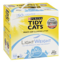 A clumping litter with two weeks of ammonia odor prevention, working around the clock, at just half the weight. Light, tight clumps for easy scooping.