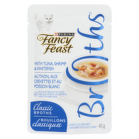 Fancy Feast Fancy Feast - Classic Broths with Tuna, Shrimp & Whitefish, Wet Cat Food Complement, 40 Gram