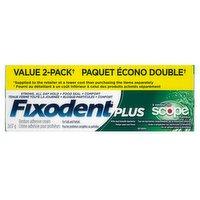 Fixodent - Denture Adhesive Cream With Scope - Value Pack
