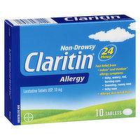 Claritin Claritin - Non Drowsy Allergy Tablets 24hr, 10 Each