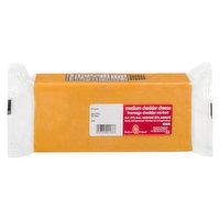 Value Priced - Medium Cheddar Cheese Block, 1 Kilogram