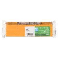 Value Priced - Medium Cheddar Cheese Block, 500 Gram