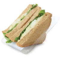 Thick Sliced White or Whole Wheat Bread, Mayonnaise, Egg Salad and Leaf Lettuce.