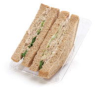 Thick Sliced White or Whole Wheat Bread, Mayonnaise, Tuna Salad and Leaf Lettuce.