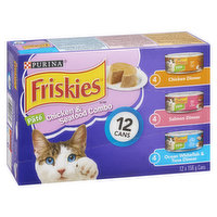Friskies - Cat Food - Chicken & Seafood Combo, 12 Each