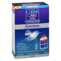Clear Care - Contact Cleaning Solution - Plus Hydraglyde, 2 Each