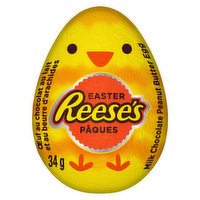 Delight in the classic combination of milk chocolate and Reese signature peanut butter in a fun Easter egg shape. Perfect for a festive gift for friends and family, or for egg hunts!