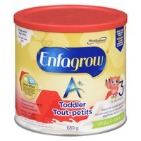 Your toddler's brain will never grow as fast as it does the first three years. Enfagrow A+ is made with brain-building DHA* to help support your toddlers normal growth and development.