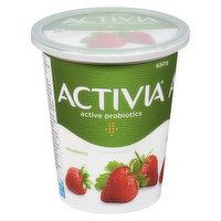 Danone - Activia Probiotic Yogurt Strawberry 2.9% M.F., 650 Gram