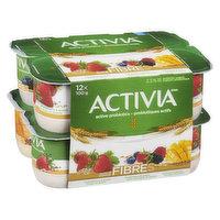 Activia - Probiotic Yogurt Fiber - Strawbrry/Wild Brry/Mango, 12 Each