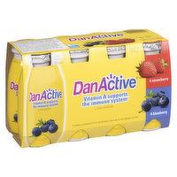 Danone - DanActive Drinkable Yogurt Blueberry/Strawberry, 8 Each
