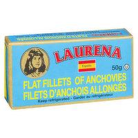 Laurena - Flat Fillets of Anchovies, 50 Gram
