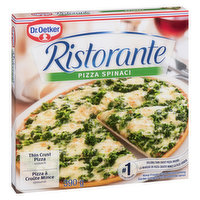 Thin Crust Pizza Spinach