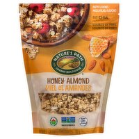 Delicious crunchy granola clusters in a resealable pouch for easy snacking on the go or just pouring into a bowl. Organic clover honey, real ingredients and whole grain goodness. Gluten free.